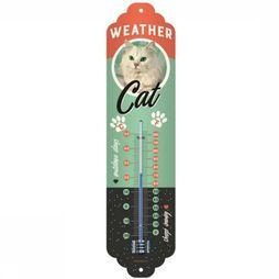 Nostalgic Art Gadget Weather Cat Thermometer Geen kleur