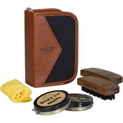 Gentlemen's Hardware Gadget Charcoal Shoe Shine Kit camel/jeans blue