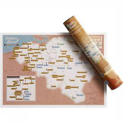 Maps International Gadget Belgian Beers Collect And Scratch No Colour