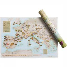 Maps International Gadget European Wines Collect And Scratch No Colour