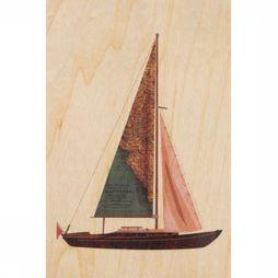 Woodhi Gadget Postcard Boat Brun Clair/Assortiment