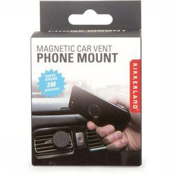 Kikkerland Gadget Magnetic Car Vent Phone Mount Zwart