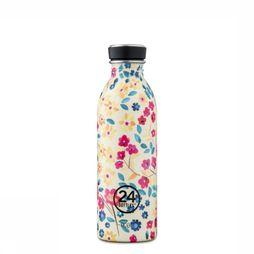 24Bottles Gourde Urban Bottle 500ml Blanc Cassé/Assortiment Fleur
