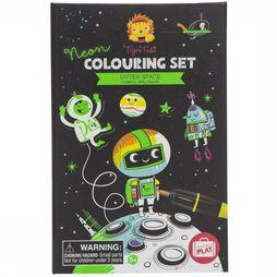 Tiger Tribe Jeu Neon Colouring Sets Outer Space Pas de couleur