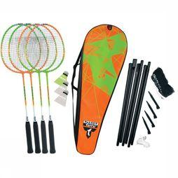 Talbot Torro Toys Badminton Set 4 Attacker Plus Lime/orange