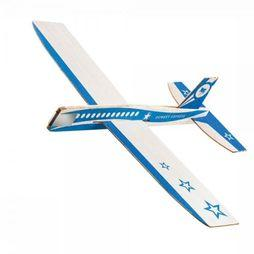 Donkey Speelgoed Looping Stars Wood Glider Plane Middenblauw
