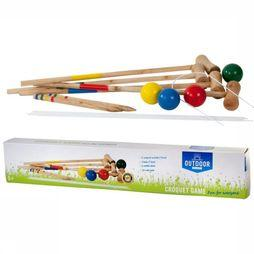 Outdoor Play Jouets Croquet Brun Clair/Assortiment