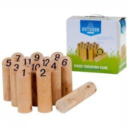 Outdoor Play Toys Wood Throwing Game light brown