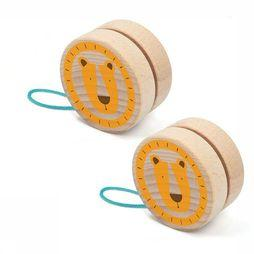 Londji Jouets Lion Yoyo Brun Clair/Orange