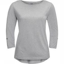 Jack Wolfskin T-Shirt Coral Coast 3/4 light grey