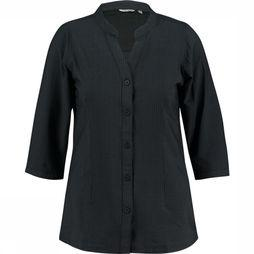 Ayacucho Shirt Bamboo Seersucker Tunic Am W black