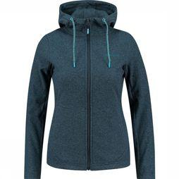 Ayacucho Fleece Sunset Fz Hoody Marineblauw