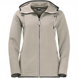Jack Wolfskin Fleece Modesto Hooded Ecru