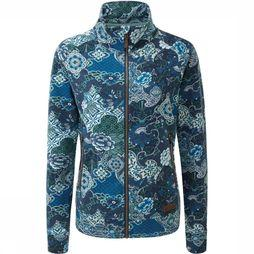Sherpa Fleece Zehma blue/Assortment Flower