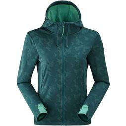 Eider Fleece Rythm Hoody Petrol/Assortment