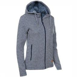 Ayacucho Fleece Chilly Spring Hoody Marineblauw/Wit