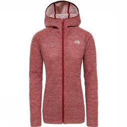 The North Face Fleece Inlux Pro Wool Hoody Rood
