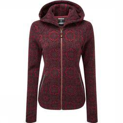 Sherpa Fleece Namla Hooded Jacket II dark red