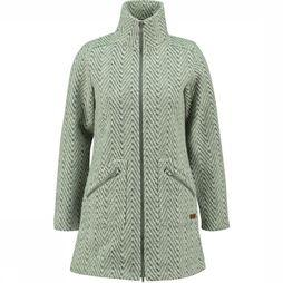 Ayacucho Fleece Innsbruck Coat W Groen/Wit