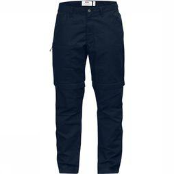 Fjällräven Broek High Coast Zip-Off Marineblauw