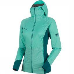 Mammut Coat Aenergy IN Hooded Light Green/Petrol