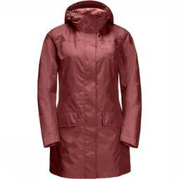 Jack Wolfskin Manteau Cape York Coat Bordeaux