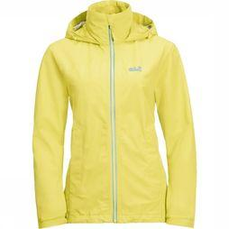 Jack Wolfskin Coat Evandale light yellow