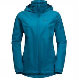 Jack Wolfskin Manteau Stormy Point Bleu Pétrole