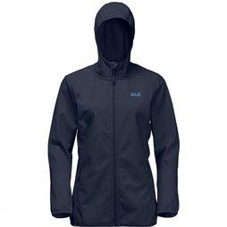 Jack Wolfskin Softshell Northern Point Marineblauw