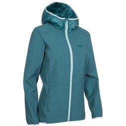 Jack Wolfskin Softshell Sky Point Hoody Middengroen