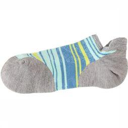 Smartwool Chaussette PhD Run Light Elite Striped Micro Gris Clair/Bleu Clair