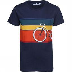 Stones and Bones T-Shirt Russel Bike dark blue