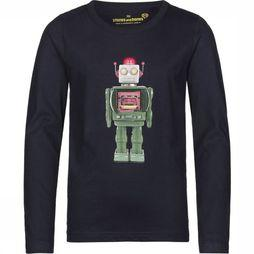 Stones and Bones T-Shirt Skipper Robot dark blue