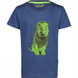 Stones and Bones T-Shirt Russel Lion Jeansblauw