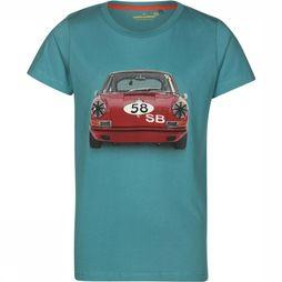 Stones and Bones T-Shirt Russel Big Red Bleu Pétrole