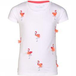 Stones and Bones T-Shirt Camille Flamingos Blanc