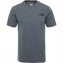 The North Face T-Shirt Nse Simple Dome Donkergrijs