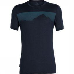 Icebreaker T-Shirt Tech Lite SS Crewe Cook By Night Marineblauw