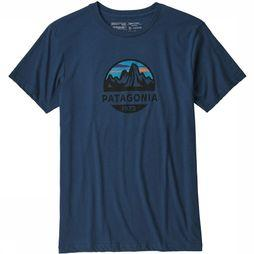 Patagonia T-Shirt Fitz Roy Scope Donkerblauw