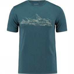 Ayacucho T-Shirt Mountain Lake Middenblauw