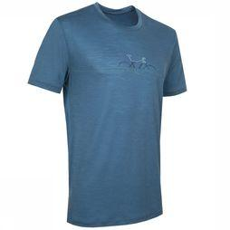 Icebreaker T-Shirt Spector SS Crewe Cadence jeans blue