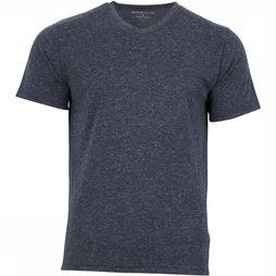 United by Blue T-Shirt Standard V-Neck Donkerblauw