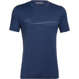Icebreaker T-Shirt Ice Tech Lite Tee Cadence Paths blue