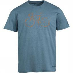 Vaude T-Shirt Men'S Cyclist T-Shirt V Bleu Clair