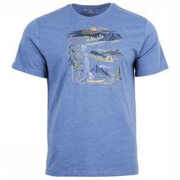 United by Blue T-Shirt 55/45 River Bend Ss Blauw