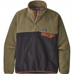 Patagonia Fleece Synchilla Lightweight Snap-T Groen/Blauw