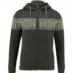 Ayacucho Fleece Knight Wool Hoody Dark Grey/Ecru