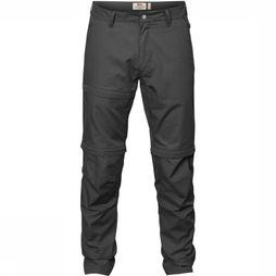 Fjällräven Trousers Traveller Zip-Off dark grey