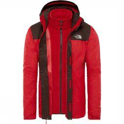 The North Face Coat Evolve II Triclimate red/brown