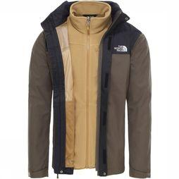 The North Face Coat Evolve II Triclimate dark khaki/black